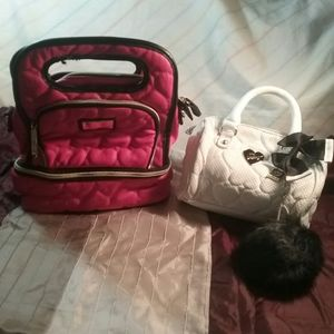 Betsey Johnson lunch bag and mini mini purse